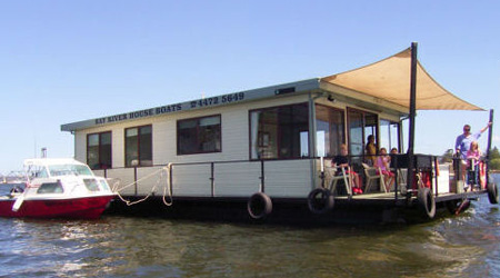 One of our many house boats for hire in Batemans Bay